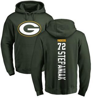 Men's Simon Stepaniak Green Bay Packers Green Pro Line Backer Pullover Hoodie